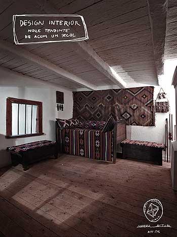 Poză cu interior de casa taraneasca