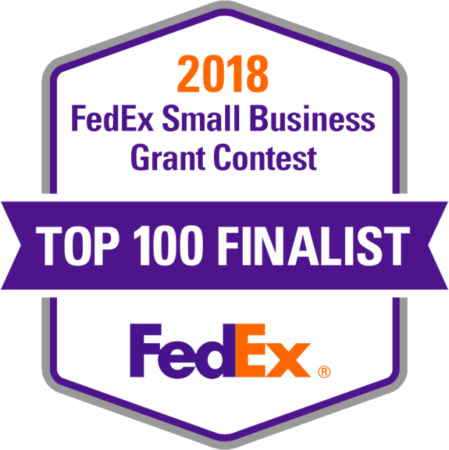 FedEx Top 100 Finalist in the Small Business Grant Conteset