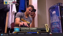 stephen curry on the phone