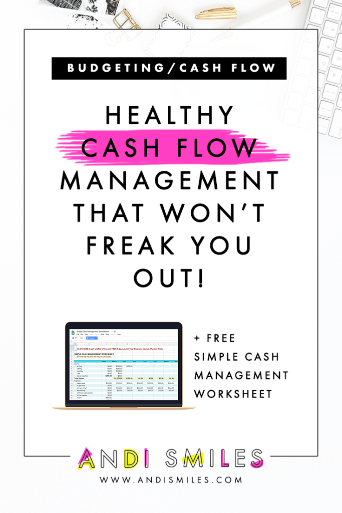 Click through to learn about Healthy Cash Flow Management That Won't Freak You Out! #bookkeeping #entrepreneur