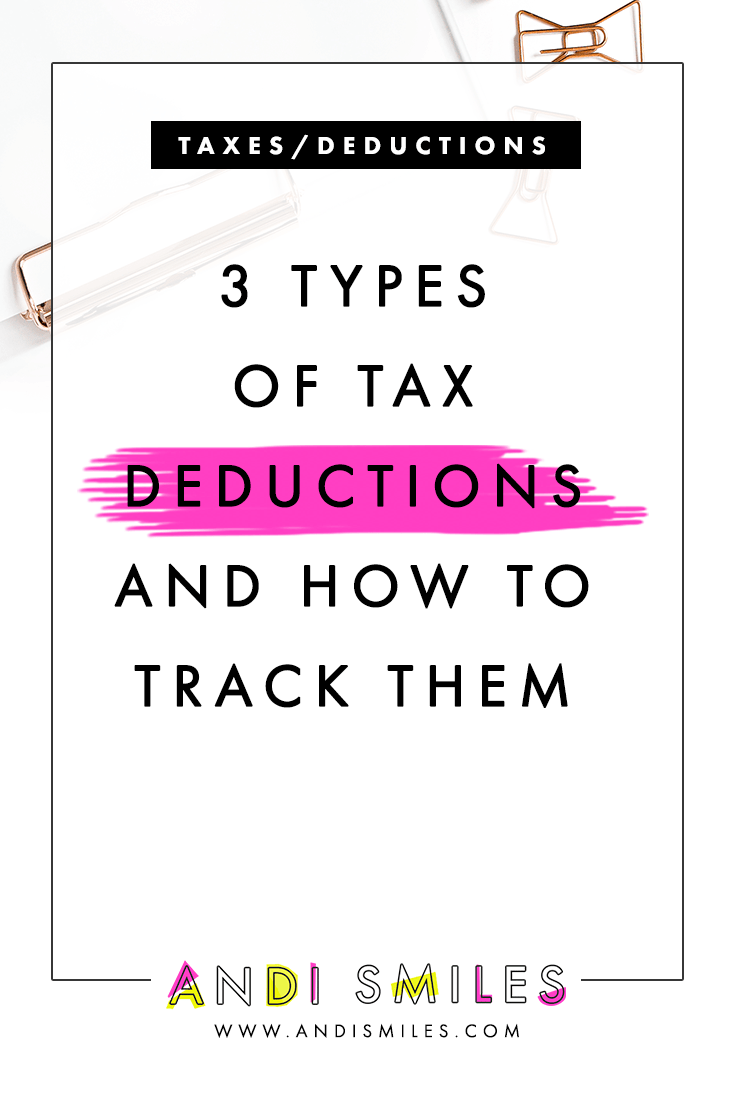 3 Types of Tax Deductions and How to Track Them