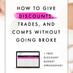 How to Give Discounts, Trades, and Comps Without Going Broke