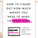 How to Figure Out How Much Money You Need to Make to Break Even