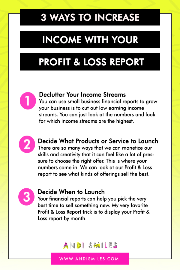 The financial reports that you run for your small business are more than just a bunch of numbers on a screen! Financial reports give you valuable insight into your businesses growth patterns and help you make strategic decisions about the growth of your business.  Learn three ways that you can use your small business financial reports to make better, more profitable decisions for your business. #entrepreneur #bookkeeping