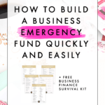 How To Build A Business Emergency Fund Quickly And Easily