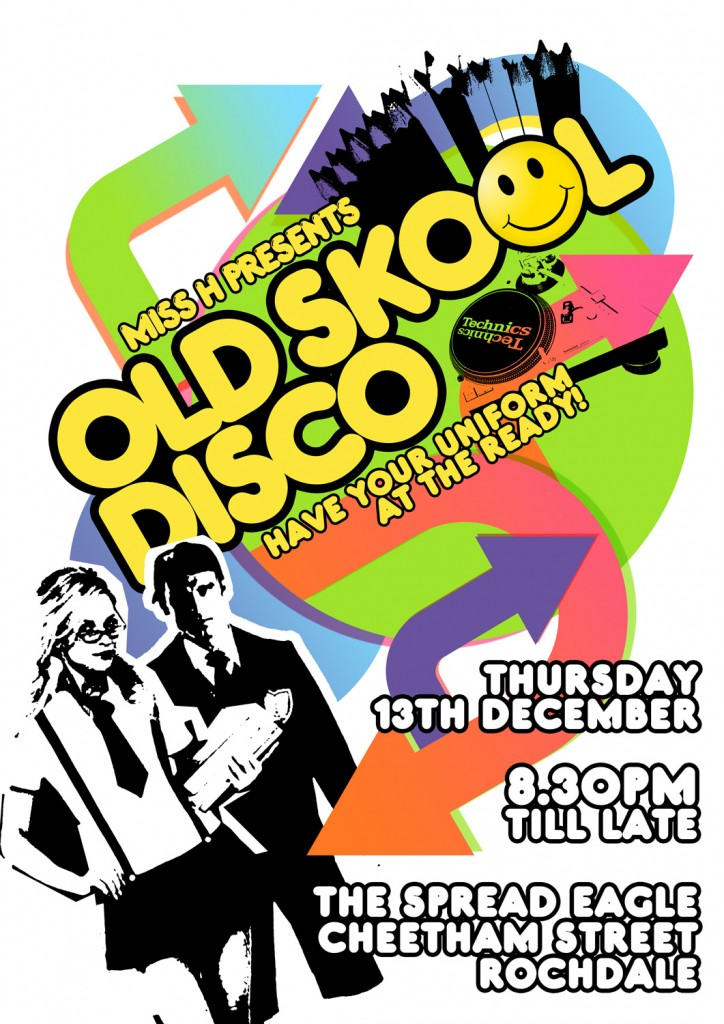 Miss H | Old Skool Disko Poster | Singer Extroardinaire: By Factory, Digital Agency In Manchester