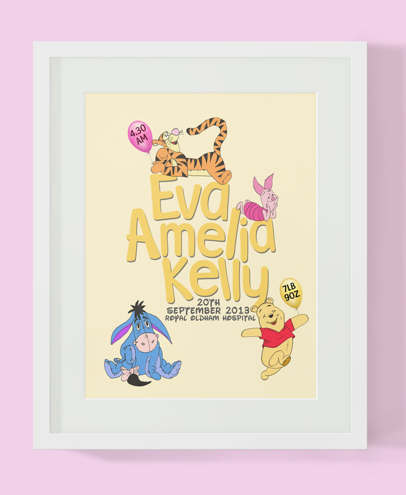 Birth Print for Little Eva: By Factory, Digital Agency In Manchester