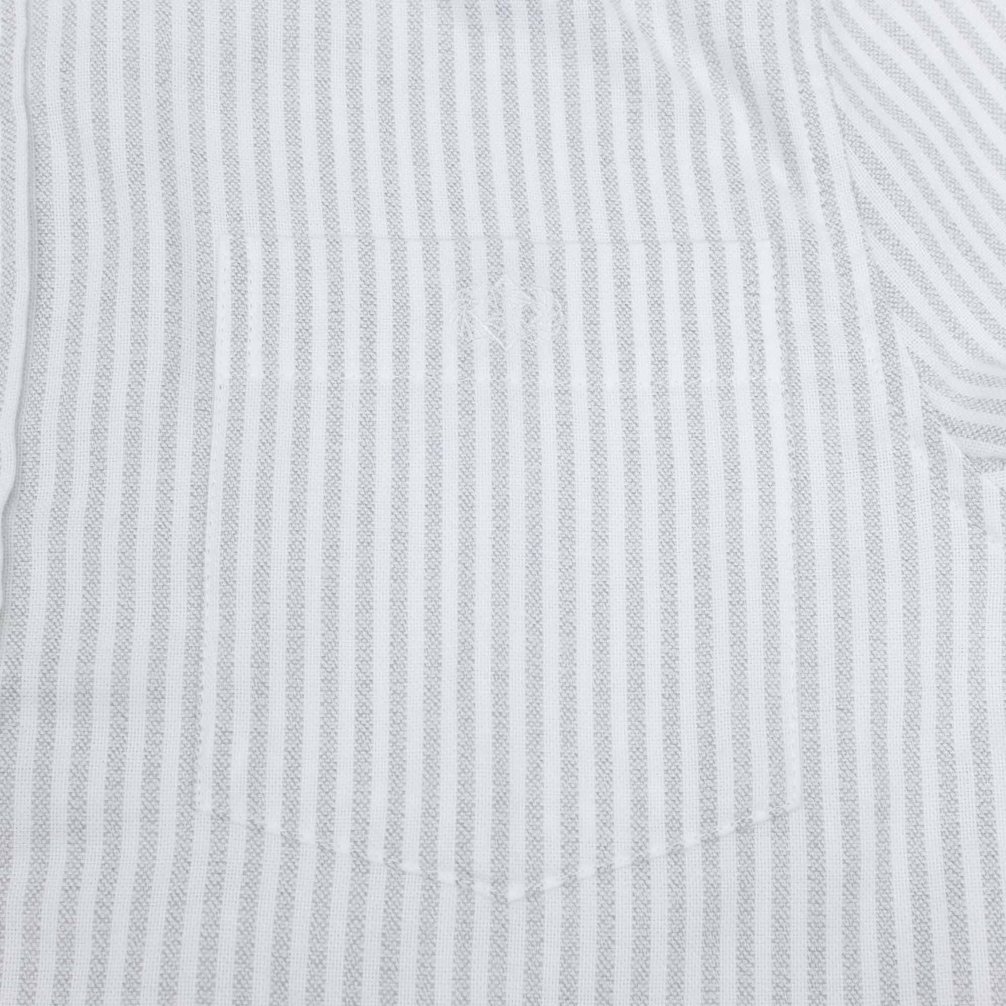forét Beam Shirt - White/Light Grey