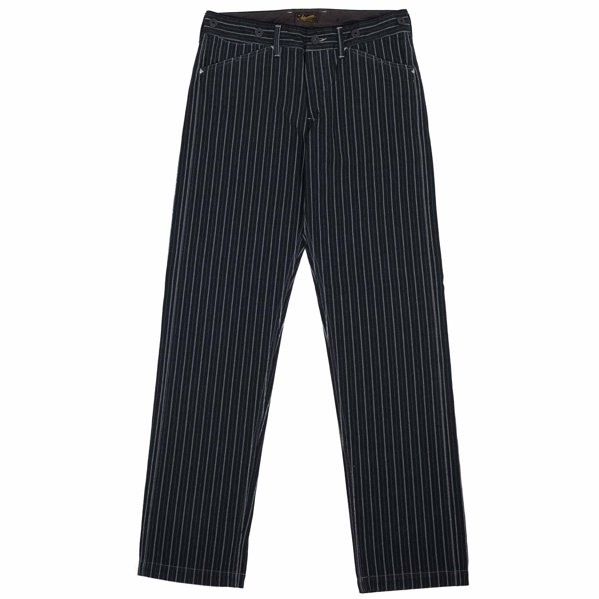Stevenson Overall Co. Gambler Trousers - Black Stripe