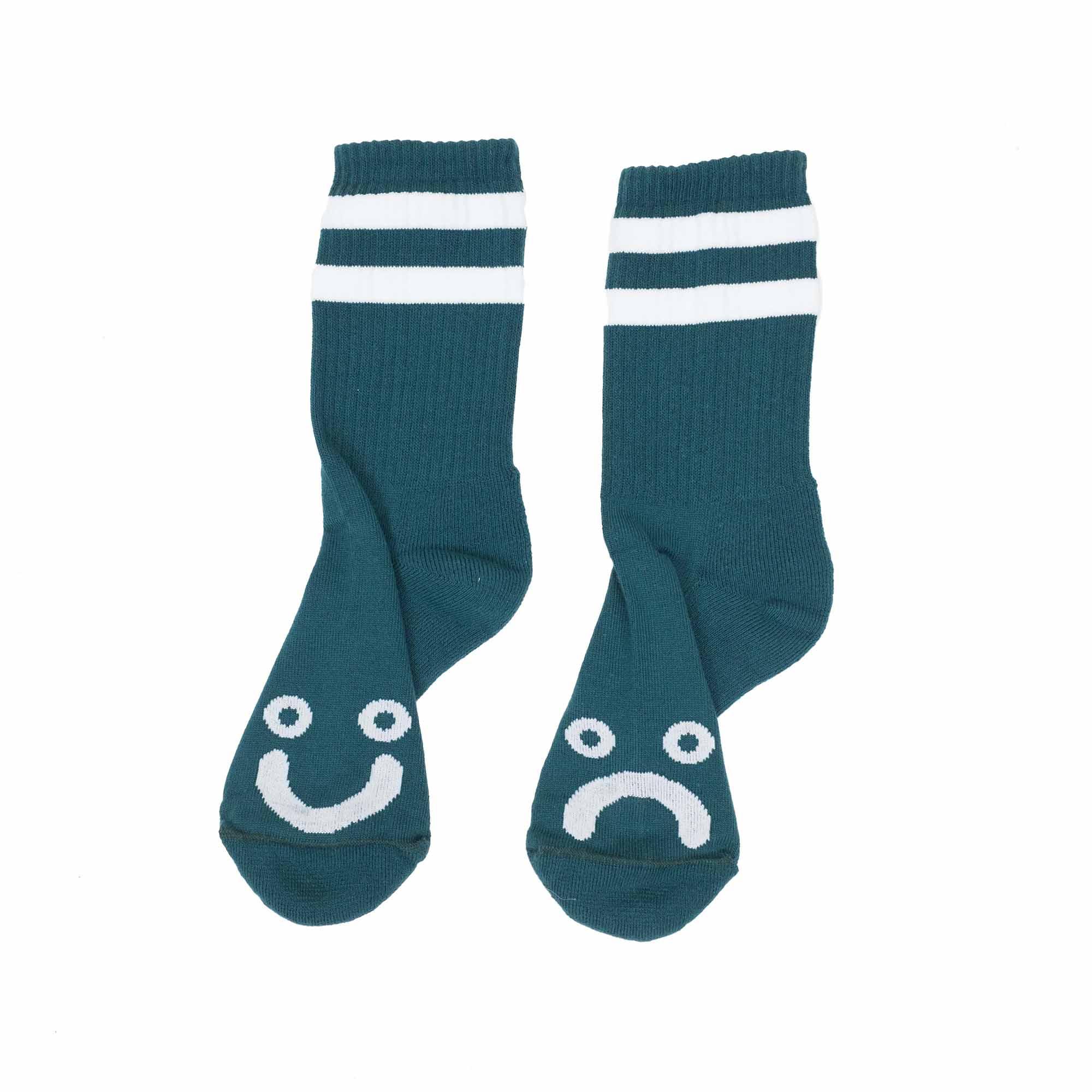 Polar Skate Co. Happy Sad Socks - Dark Green