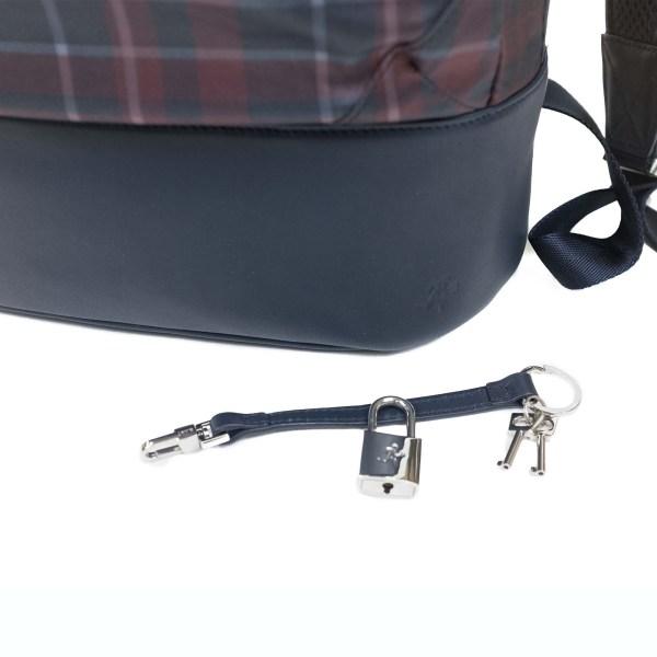 WANT Les Essentiels Kastrup Backpack - Navy Tartan Nylon/Navy