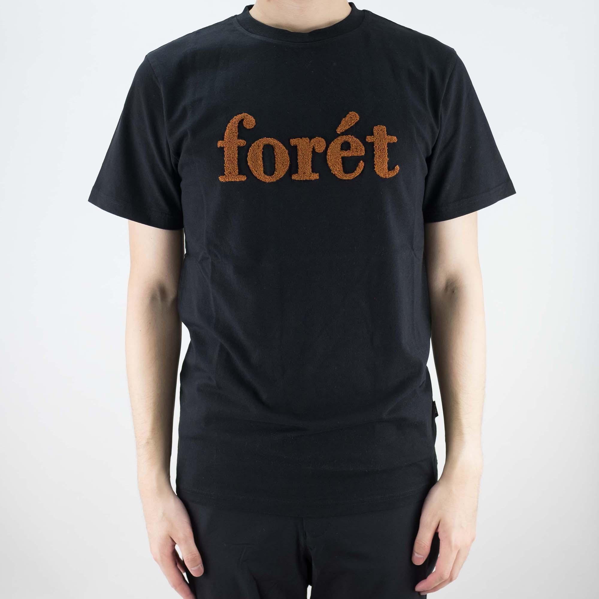 forét Log T Shirt - Black/Brick
