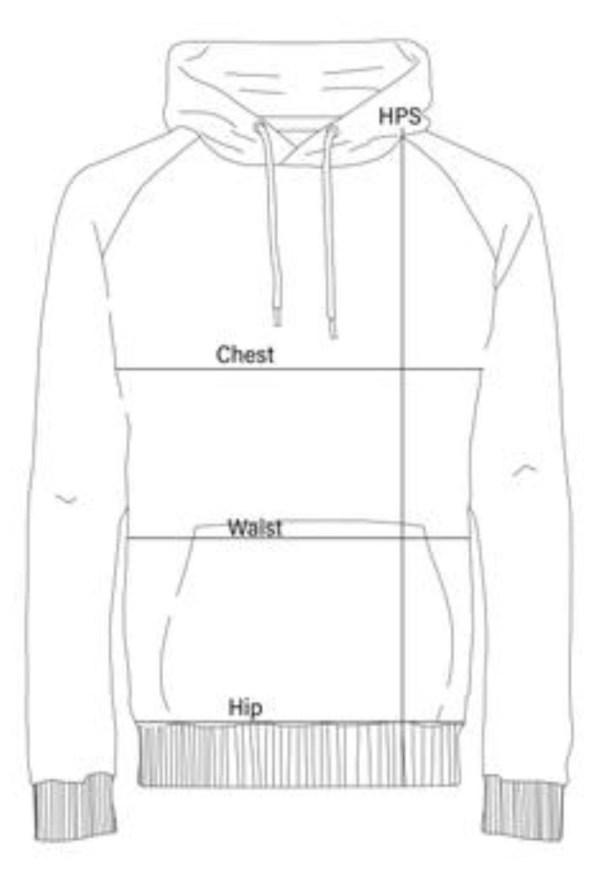 hoodie measurement