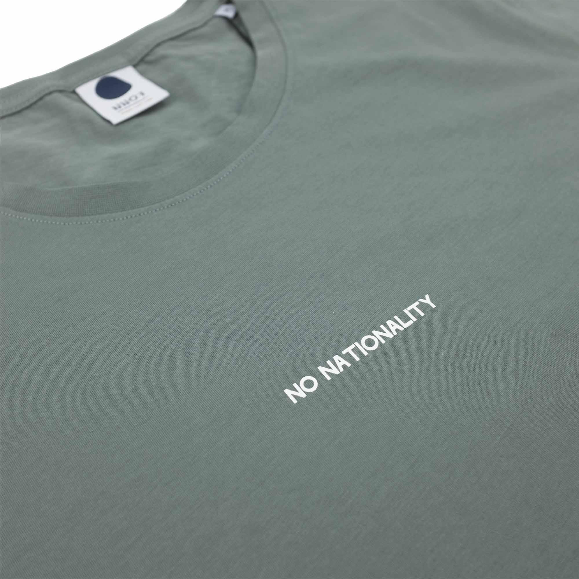 NN07 Ethan Print Tee 3208 - Green