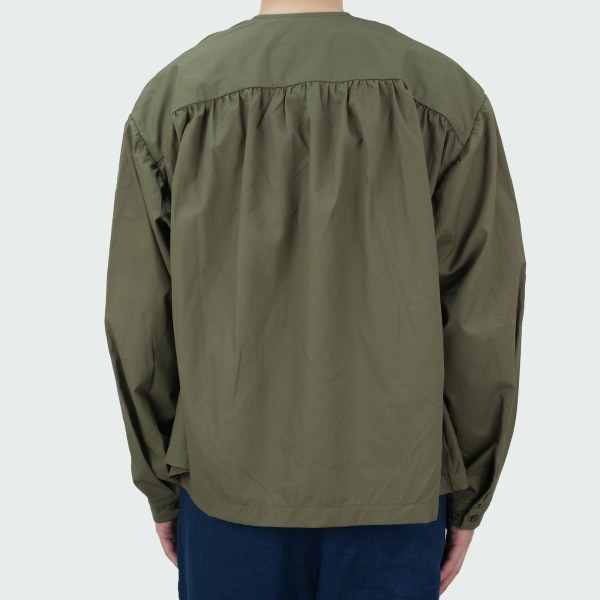 Monitaly Cropped Field Shell Jacket - Vancloth Oxford Olive