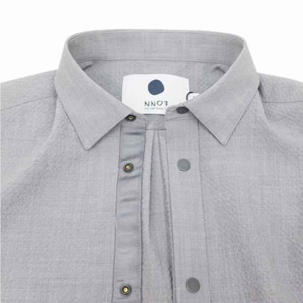 NN07 Giuseppe 1352 Seersucker Overshirt - Grey Mel.