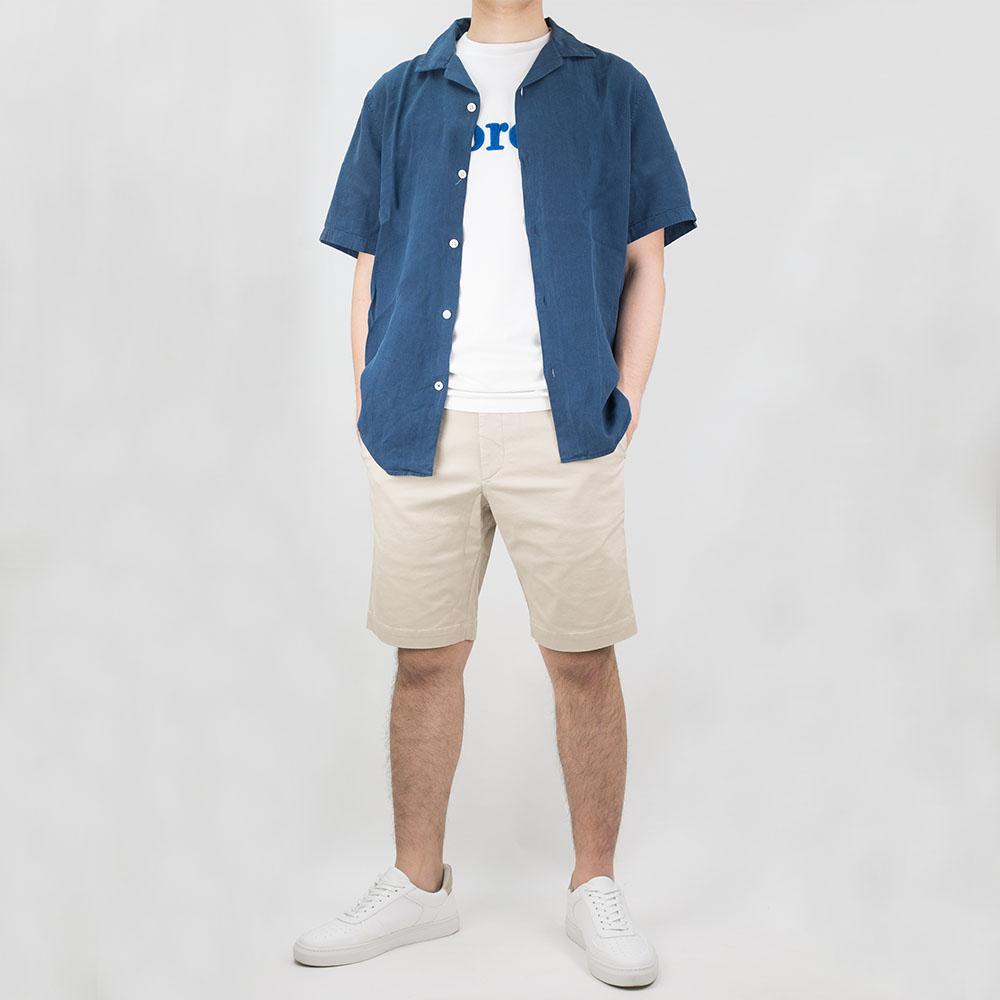 NN07 Miyagi 5029 Lyocell-Linen Shirt - True Blue