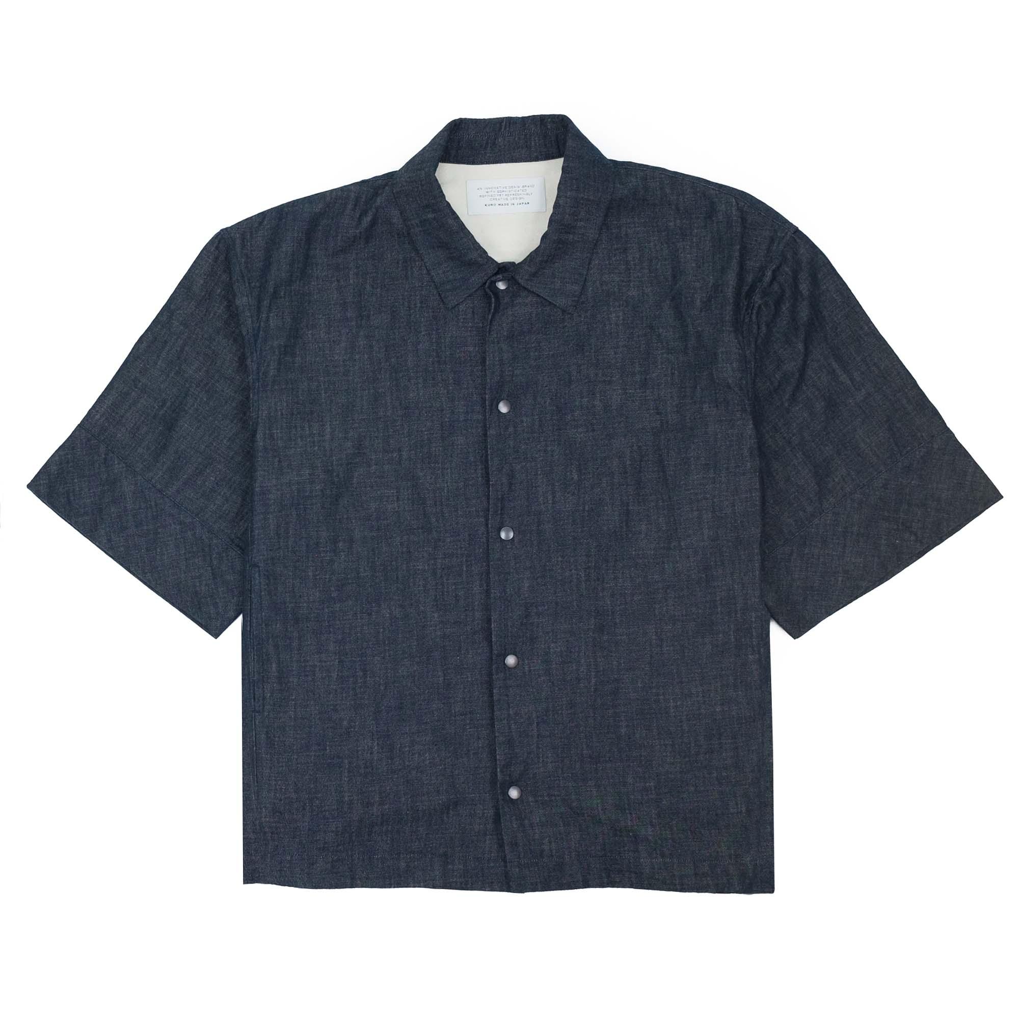Kuro Denim Short Sleeve Coach Jacket