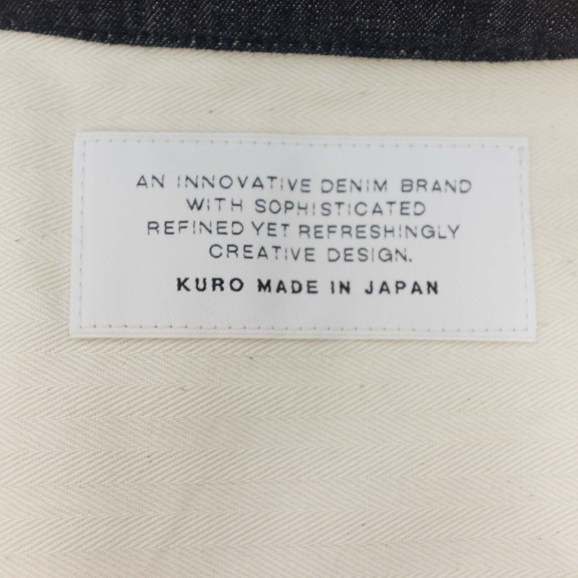 Kuro Denim Short Sleeve Coach Jacket - Indigo