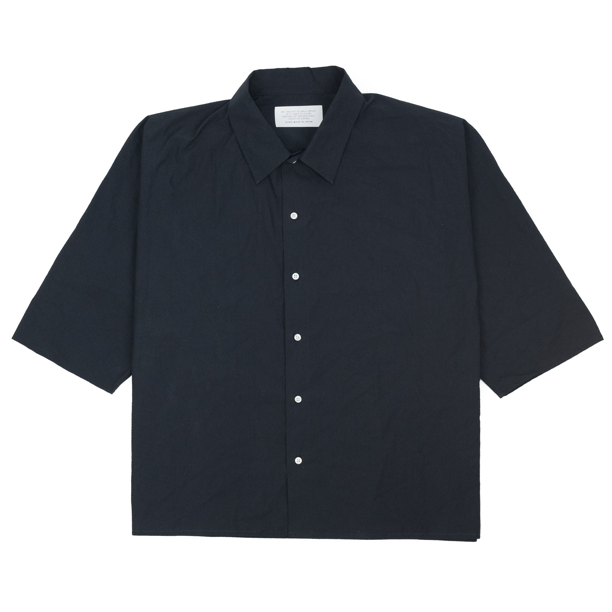 Kuro Dolman Sleeve S/S Shirt - Black