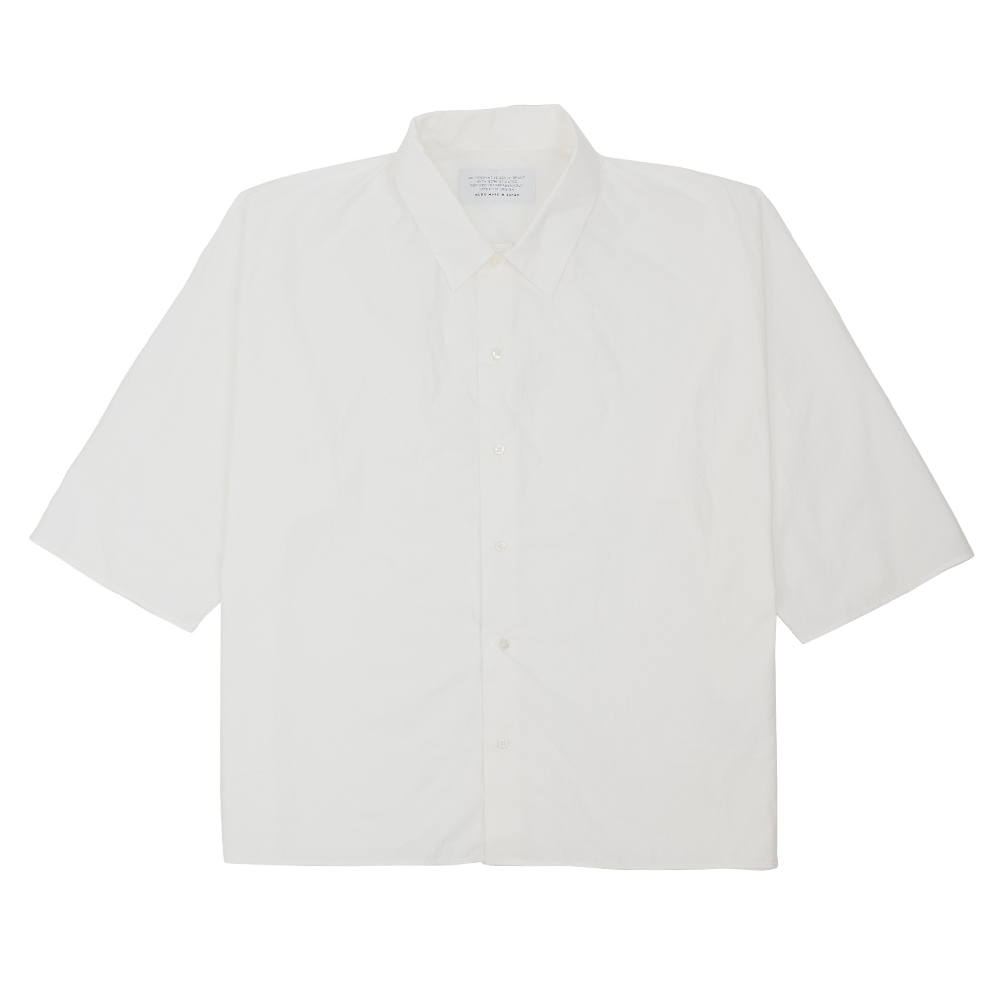 Kuro Dolman Sleeve S/S Shirt - Off White