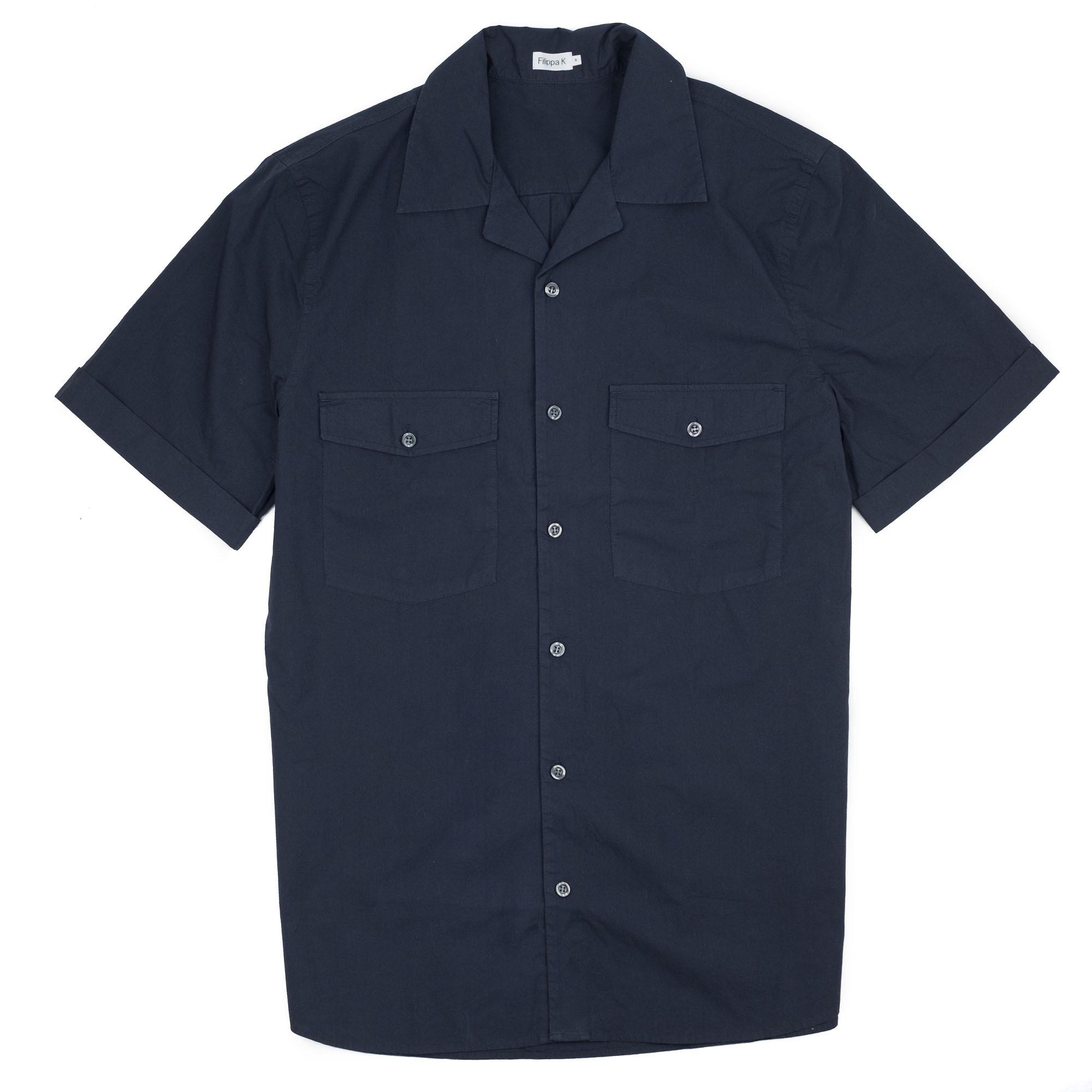Filippa K Don Washed Poplin Shirt - Dk. Navy