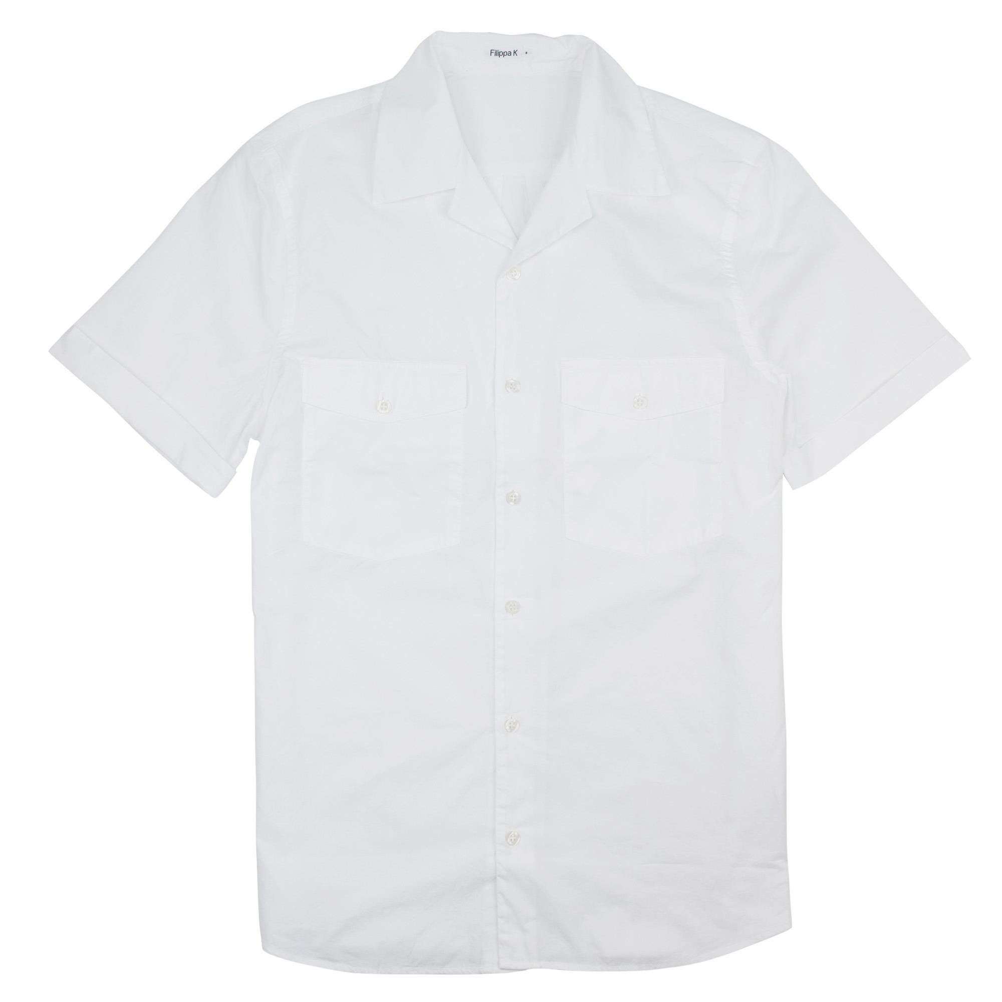 Don Washed Poplin Shirt White 1