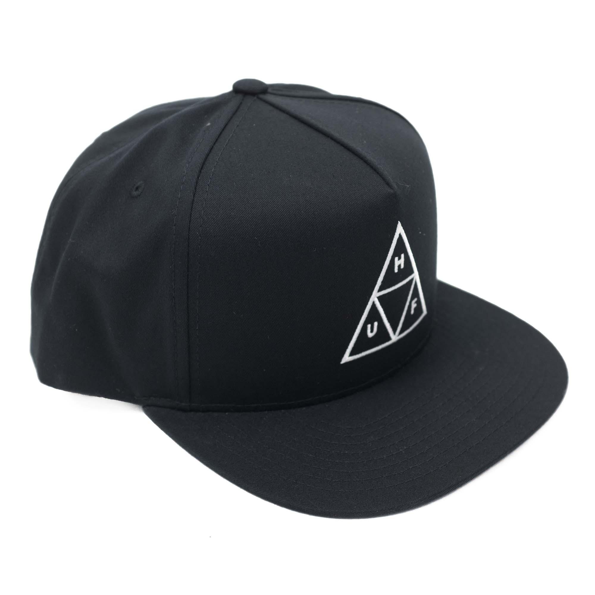 HUF Essentials Tt Snapback Hat - Black