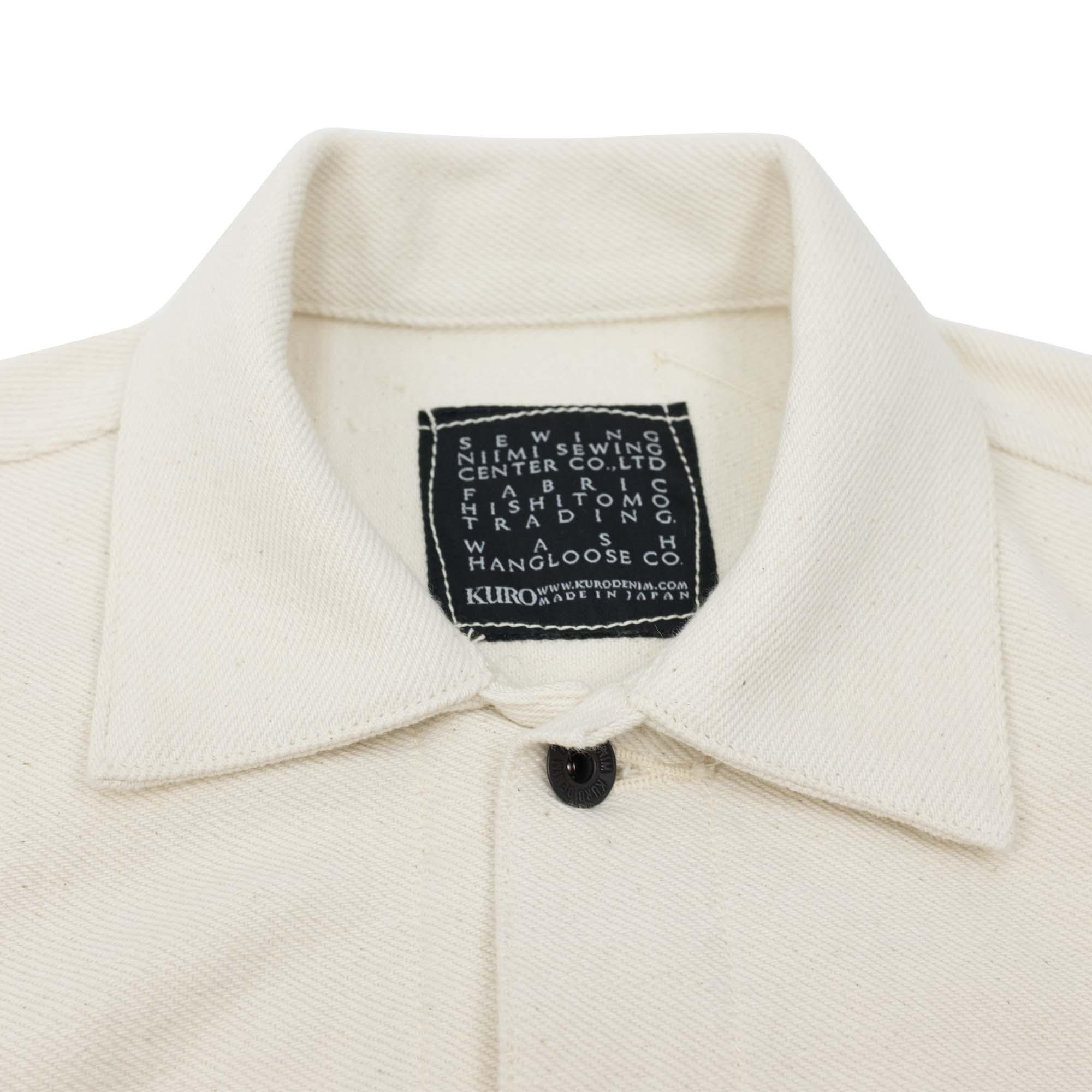 Loose Denim Big Jacket One Wash Off White 5