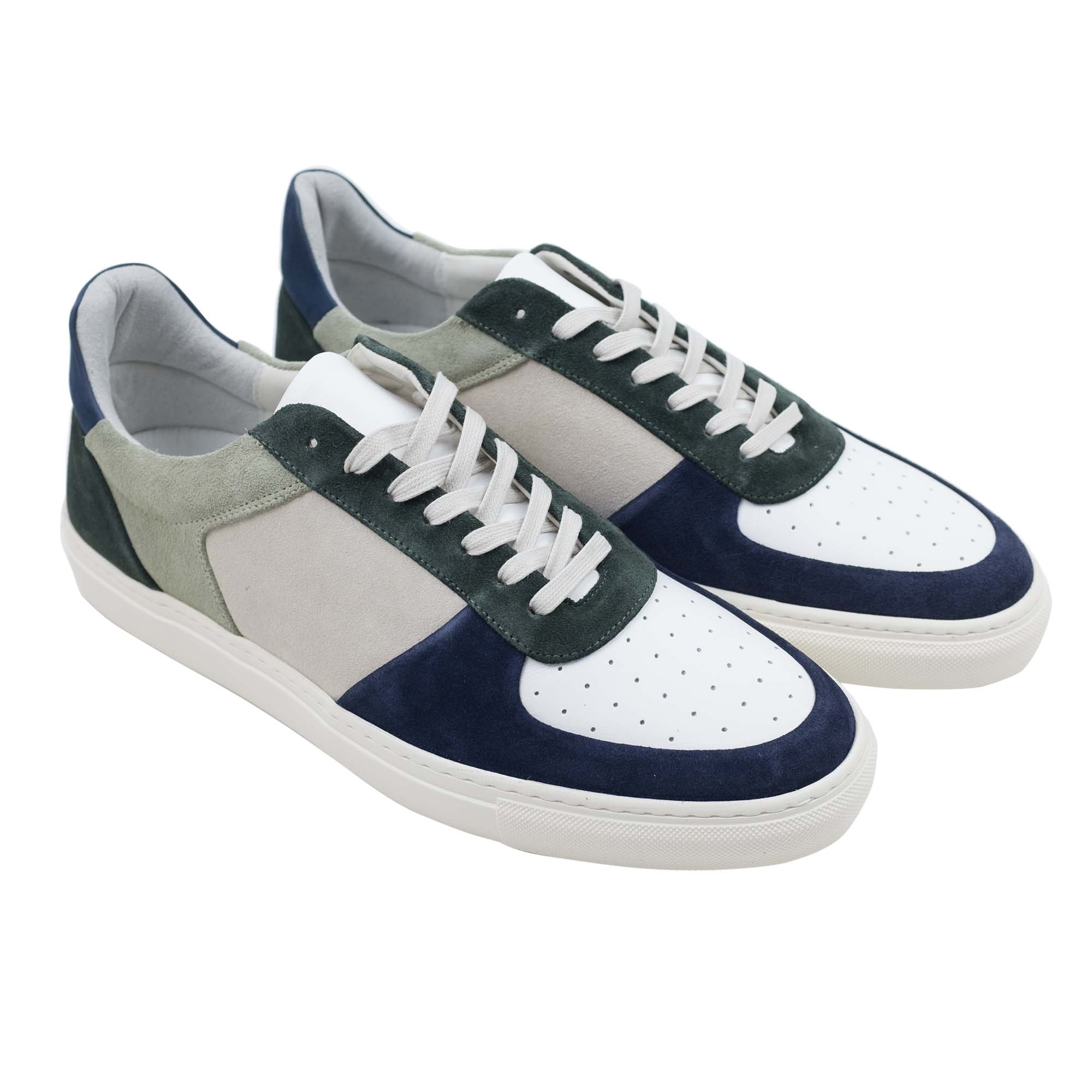 Filippa K Robert Low Mix Sneaker - Limestone/Navy/White Mix