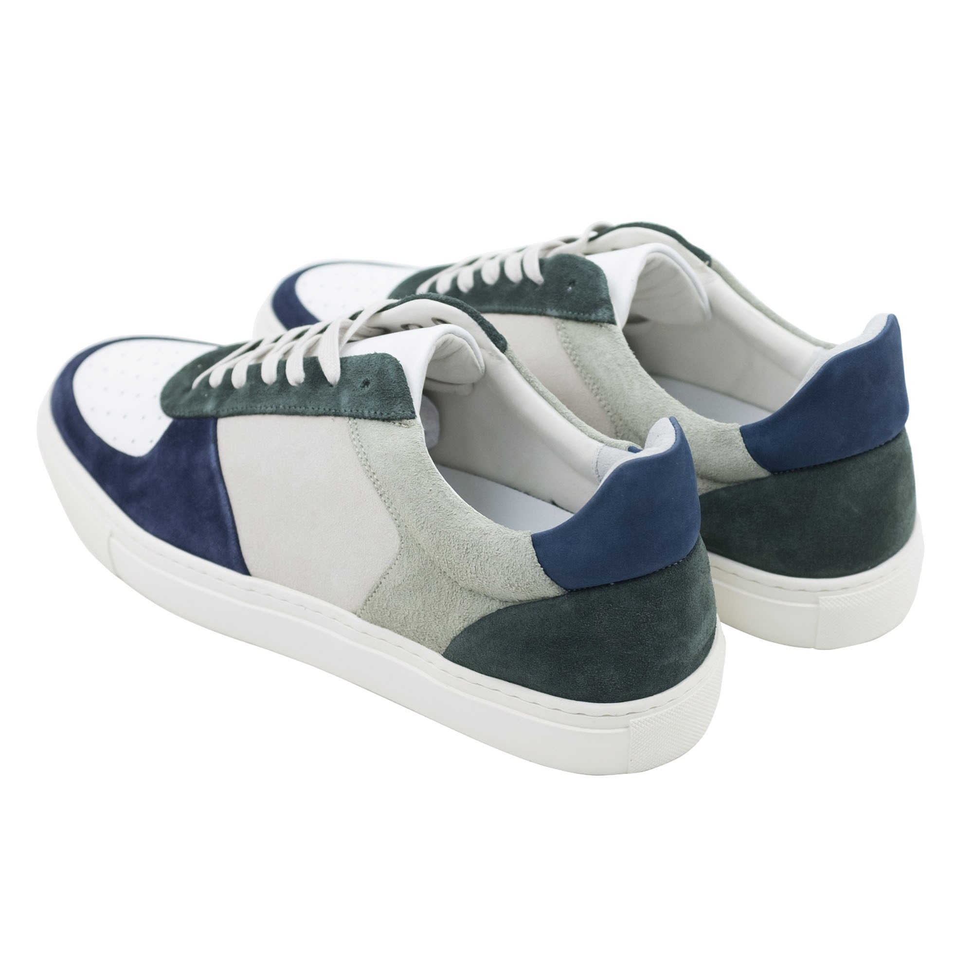 Filippa K Robert Low Mix Sneaker - Limestone/Navy/White Mix