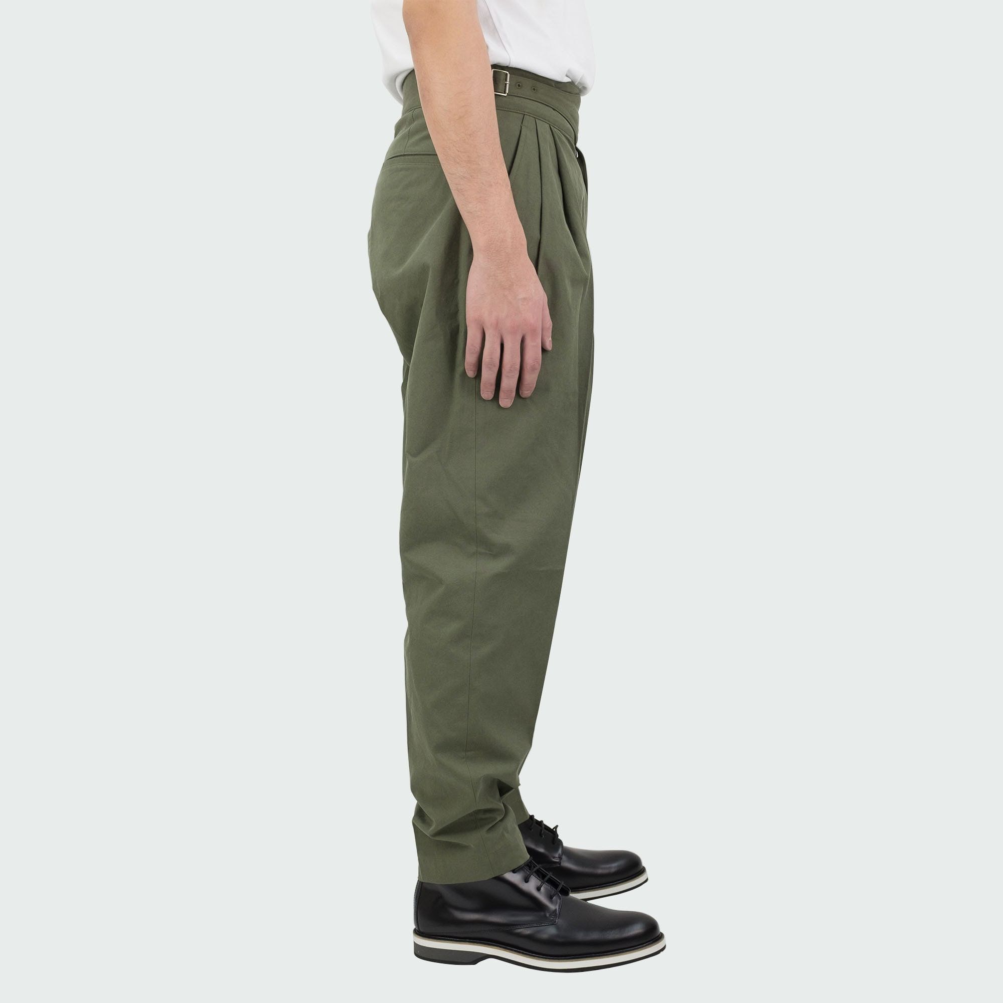 Sulfur Dyed NIDOM Gurkha Pants Khaki 3