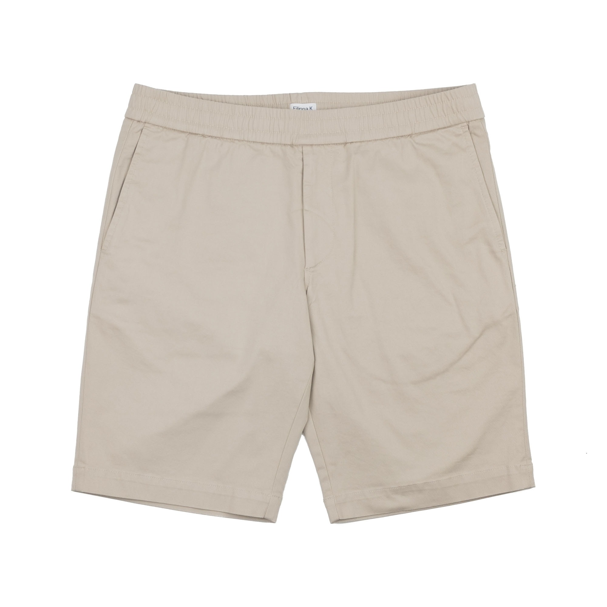 Terry Cotton Twill Shorts Khaki 1