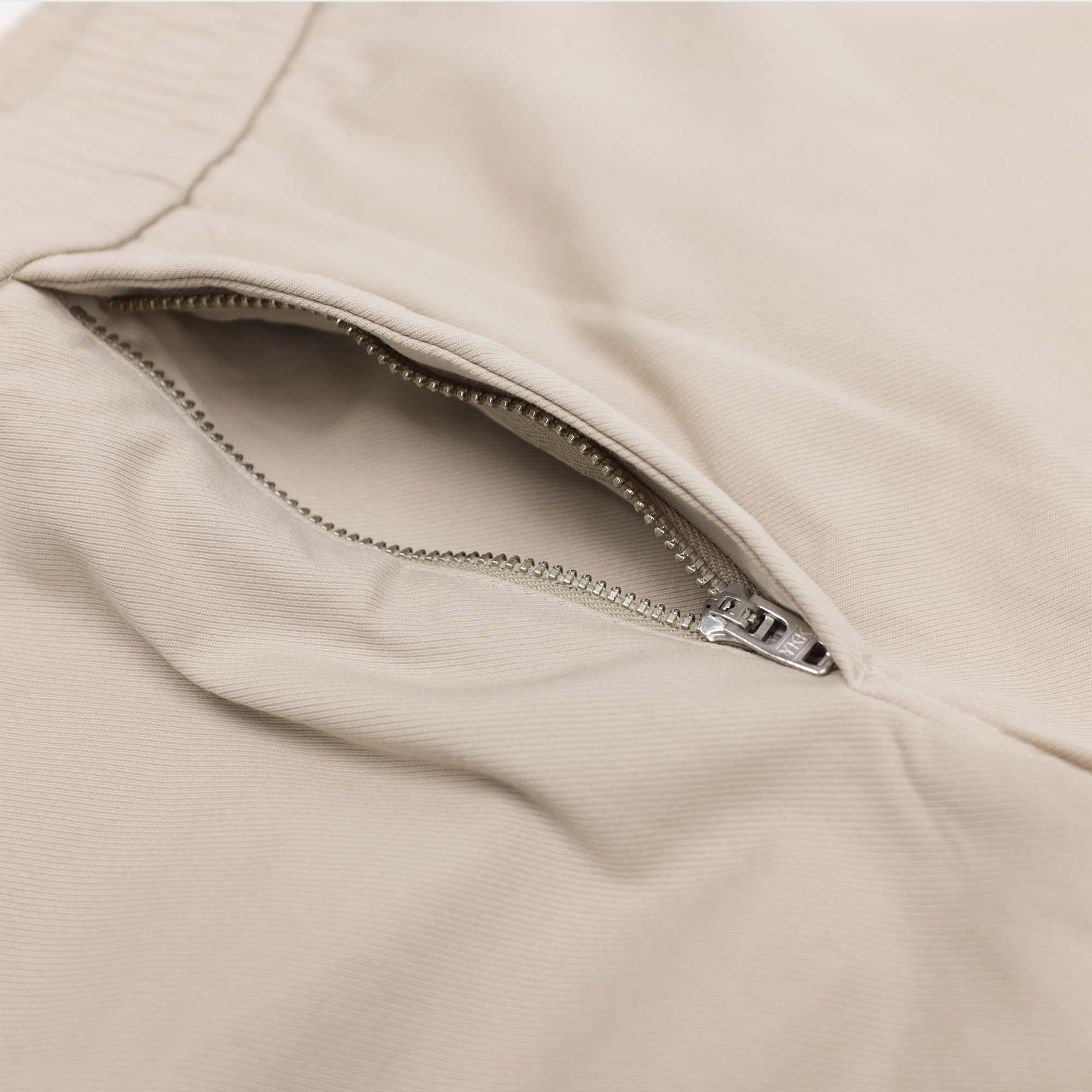 Filippa K Terry Cotton Twill Shorts - Khaki