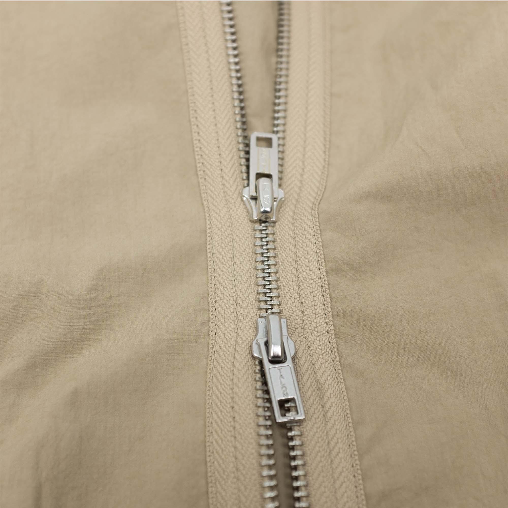 Zip Up Shirt Jacket Beige 7