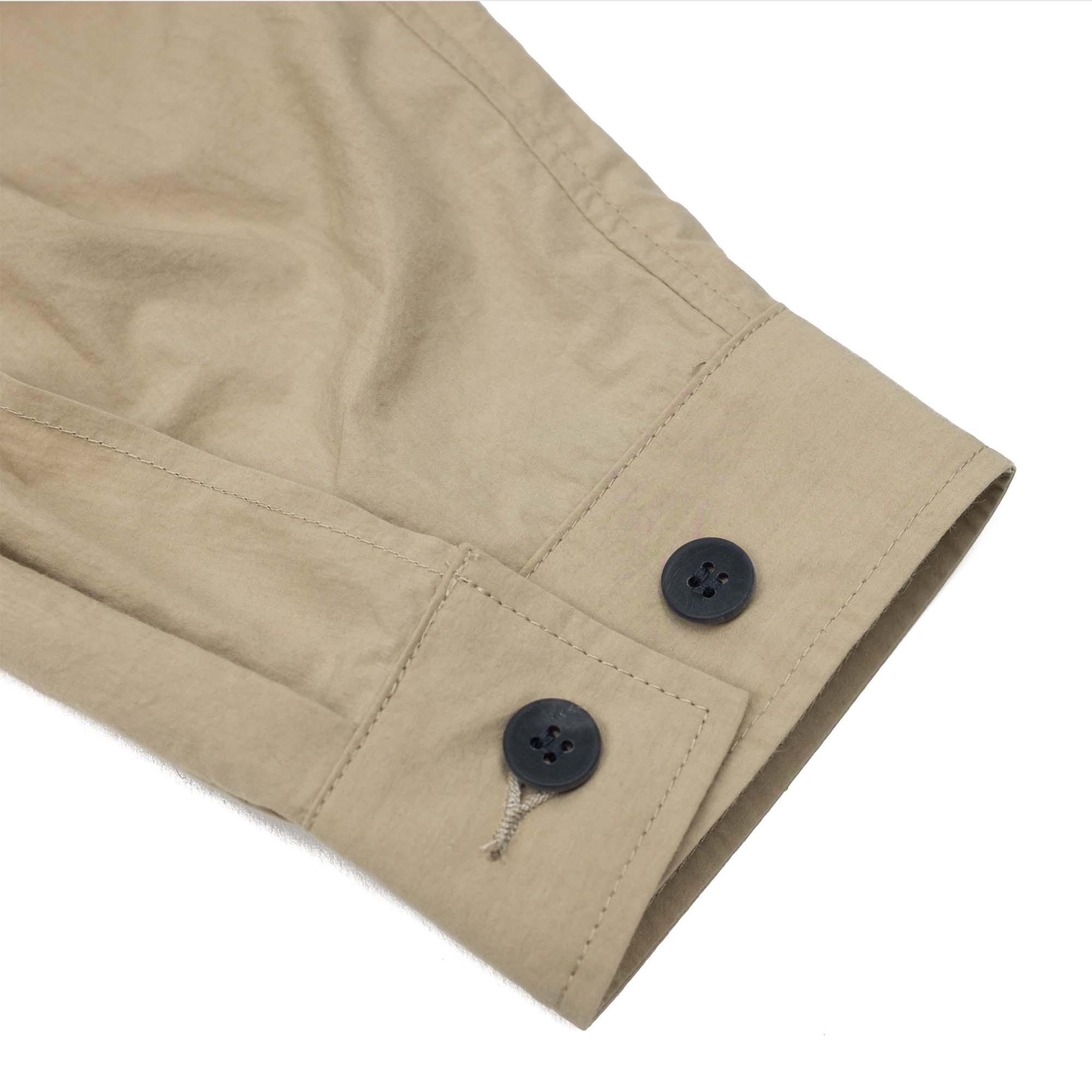 Kuro Zip Up Shirt Jacket - Beige