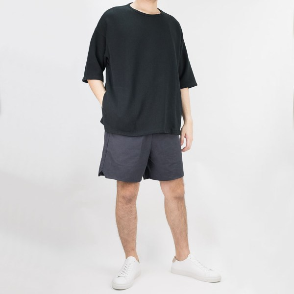 Kuro Kanoko Big Pocket Tee - Black