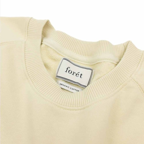 forét Escape Sweatshirt - Cream - Dark Green