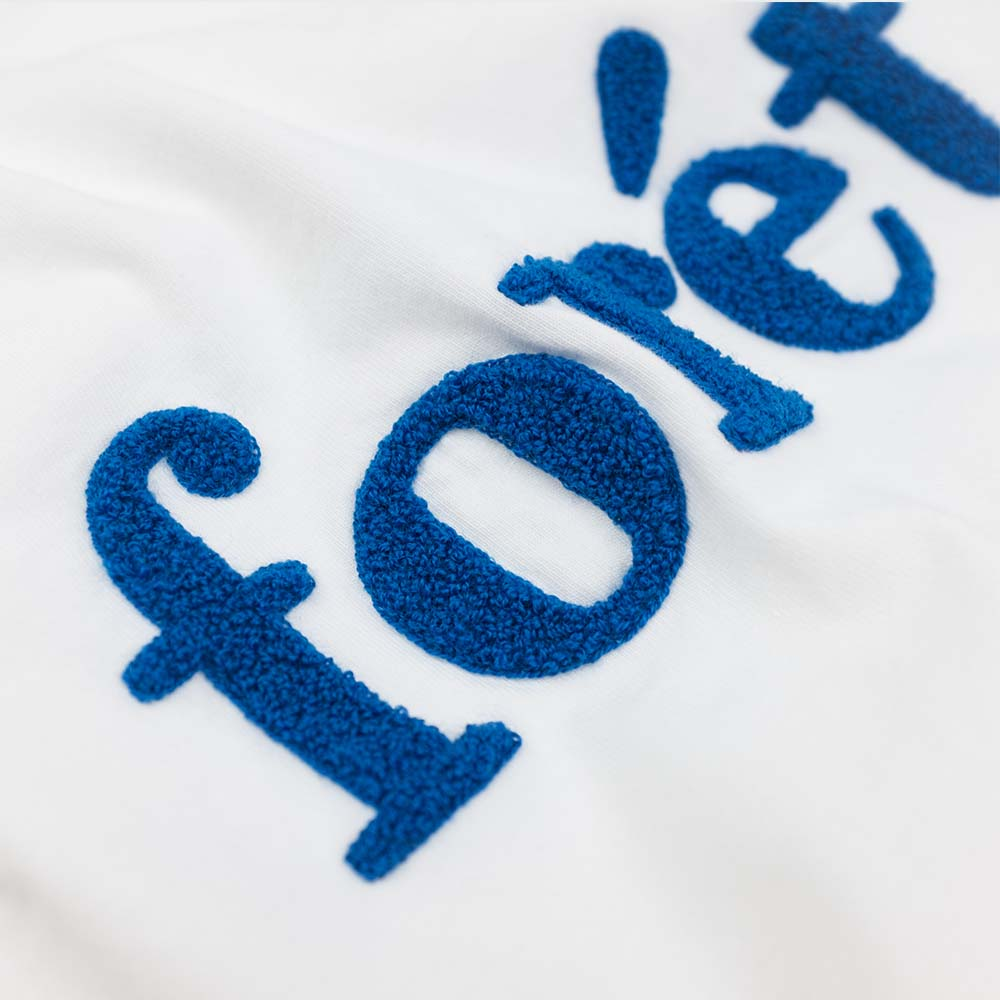 forét Log T Shirt - White - Blue