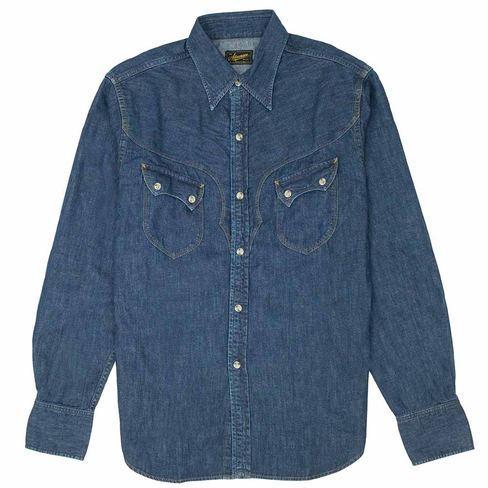Stevenson Overall Co. Cody Shirt - Faded Indigo 1