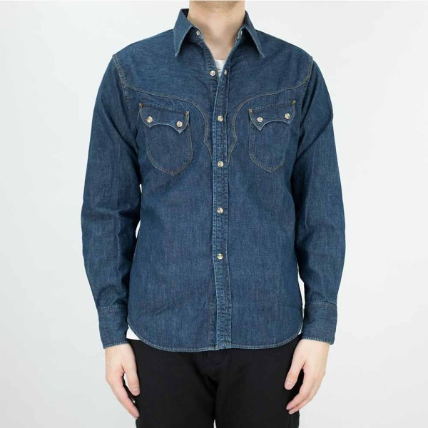 Stevenson Overall Co. Cody Shirt - Faded Indigo 2