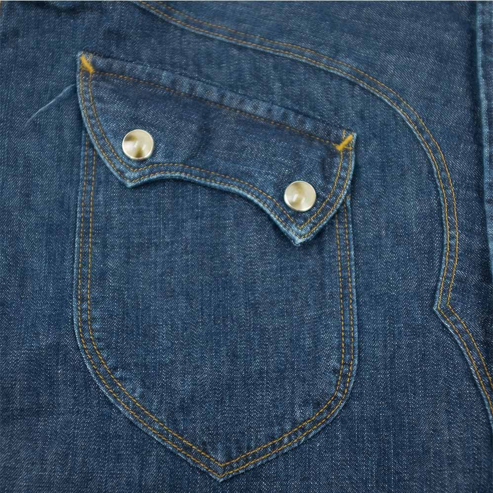 Stevenson Overall Co. Cody Shirt - Faded Indigo 4