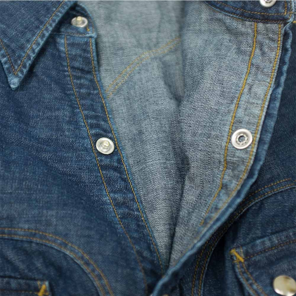 Stevenson Overall Co. Cody Shirt - Faded Indigo 5