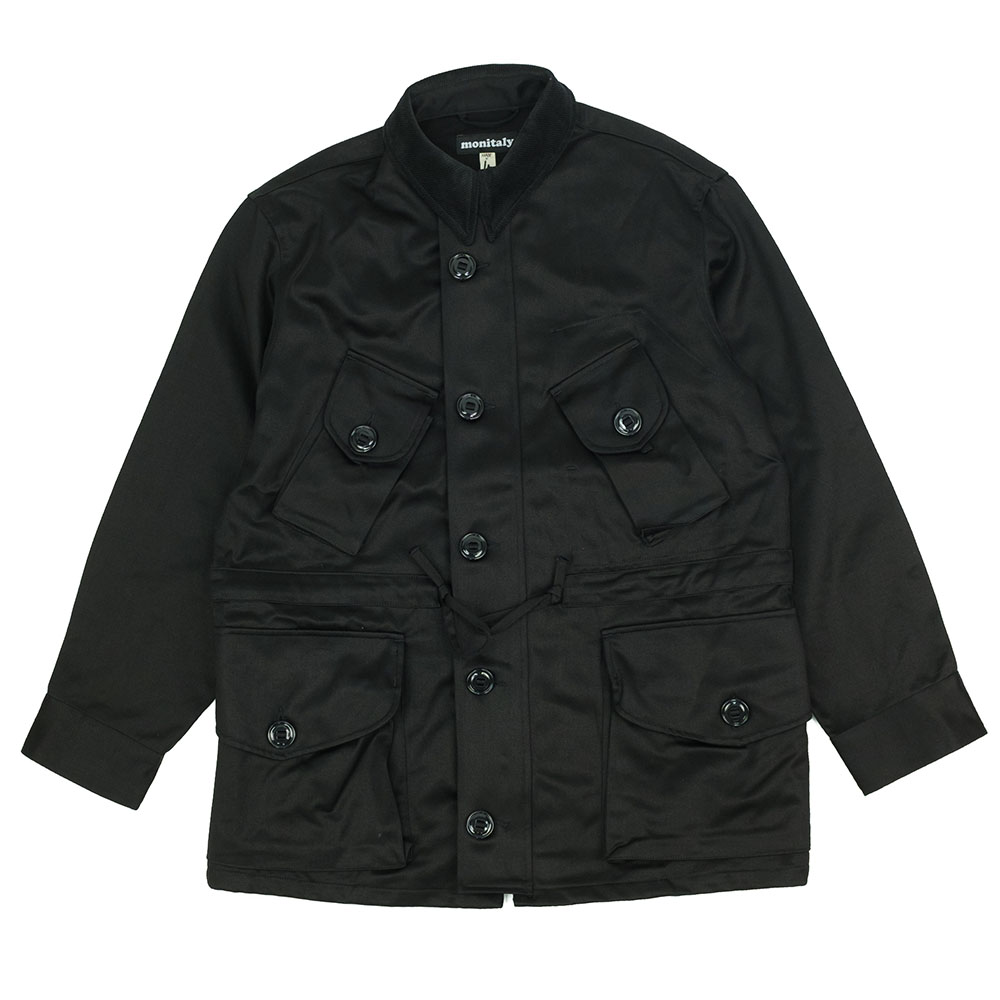 Monitaly Military Half Coat Type B - Vancloth Sateen Black