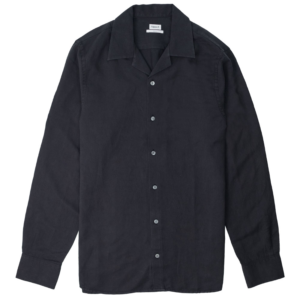 Filippa K Jean-Paul Linen Shirt - Ink Grey