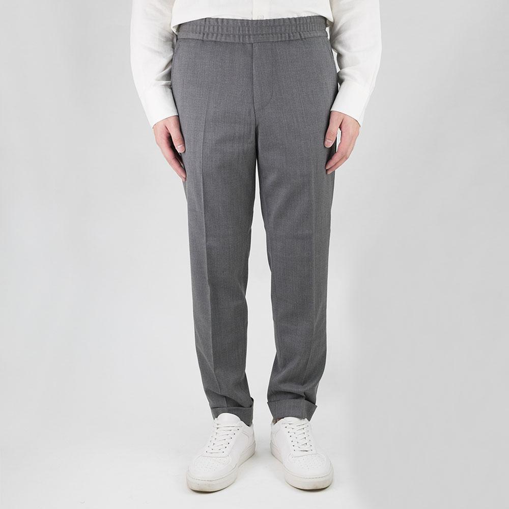 Filippa K Terry Cropped Trouser - Grey Melan