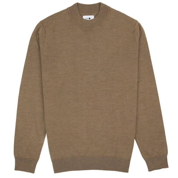 NN07 Martin Merino Sweater - Brown Melange