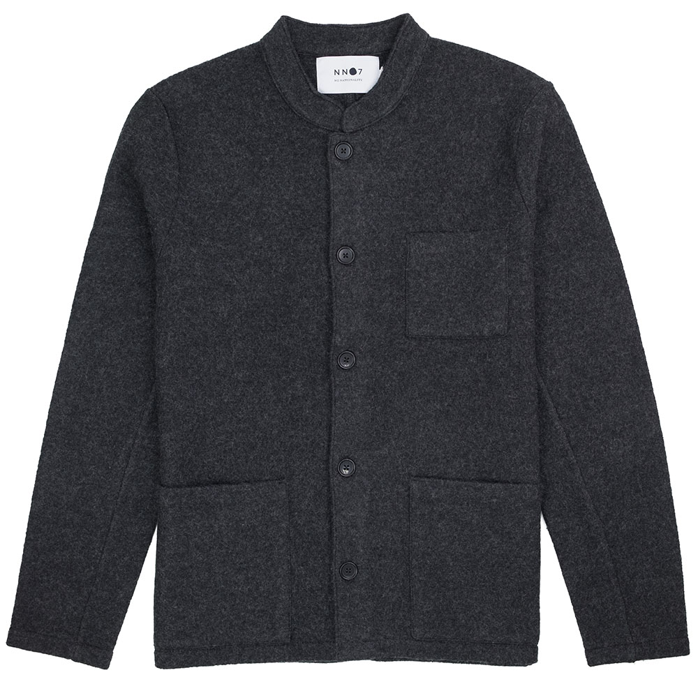 NN07 Oswald Jacket Hybrid Wool - Antracite Grey Mel.