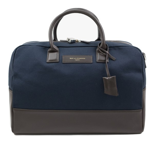 WANT Les Essentiels Douglas Holdall - Navy/Tobacco