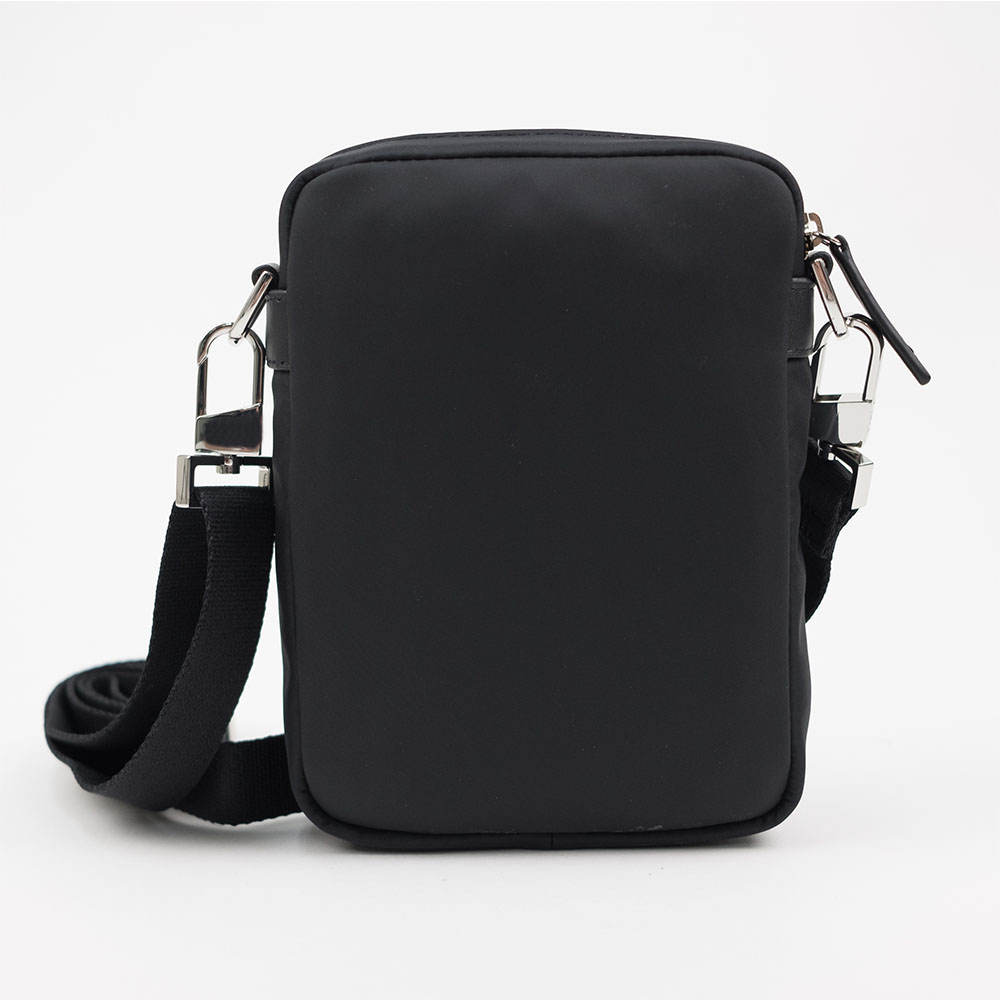 WANT Les Essentiels Reagan Crossbody Pouch - Black Nylon/ Black Leather Trims